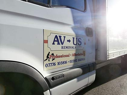 house moving - home removals - this is a photo of Avus Removals in Gosport